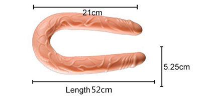 kích thước Dương vật giả 2 đầu